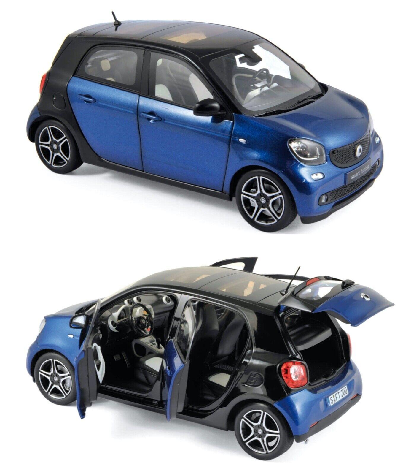 1 18 norev smart forfour 2015 schwarz Blau  neuf boite origine livraison gratuite