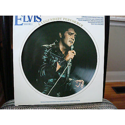 ELVIS PRESELY*A Legendary Performer*Vol 3*Limited Edition Picture Disc*Vinyl LP*