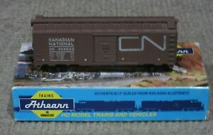 Athearn-HO-Scale-40-Foot-Canadian-National-CN-Box-Car-Assembled-Kit-New
