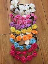 12 Mixed Color Flower/ Rose Flower Crown Headband/shower