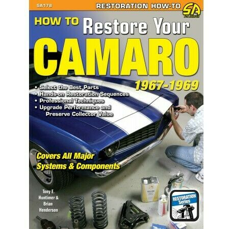 1967-1969 How To Restore Your Camaro Restoration Manual by Cartech SA178p