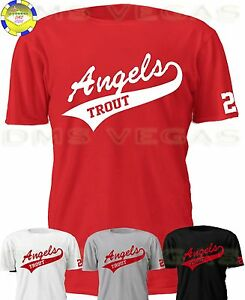 Anaheim Los Angeles Angels Mike Trout Jersey Tee T-Shirt Men Size S ... c335cb412