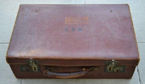 Vintage cuir serviette mallette valise antique Monica Enid Dickens Charles