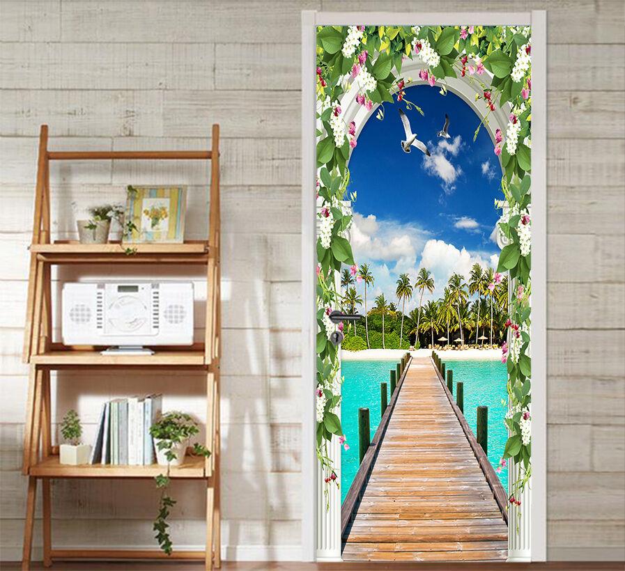 3D Seevögel 503 Tür Mauer Wandgemälde Foto Wandaufkleber AJ WALL DE Lemon