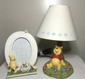 Winnie The Pooh Disney Nursery Lamp Collectors Hampton Bay And Picture Fame VTG