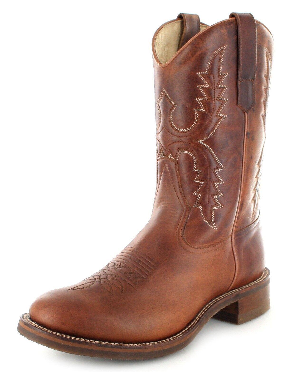 Sendra stivali 11615 Tang Donna Western MONTALA Stivali Stivali Di Pelle Marronee