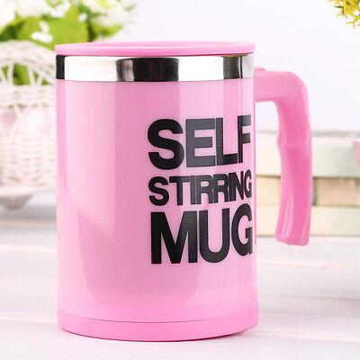 400ml Stainless Self Stirring Mug Auto Mixing Drink Tea Coffee Cup With Lid OJ