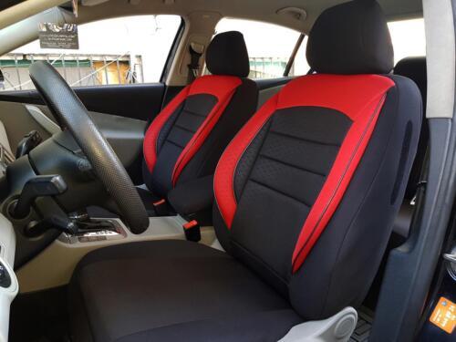 Sitzbezüge Schonbezüge für Opel Astra schwarz-rot V959386 Vordersitze