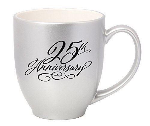 NEW James Lawrence Chrome 25th Anniversary Ceramic Mug 16 oz 4751