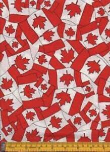 Fat-Quarter-Flag-Of-Canada-Canadian-Flag-Cotton-Quilting-Fabric-50-x-55cm