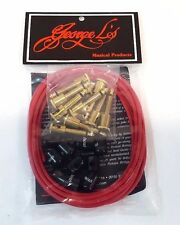 George L's Musical Products 155 VR Effects Kit Vintage Red 10ft - Plugs - Caps