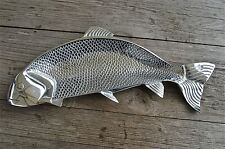 Cool retro styled polished metal salmon platter fish serving dish tray decor