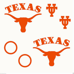 Texas Longhorns NCAA College Vinyl Sticker Decal Car Window Wall