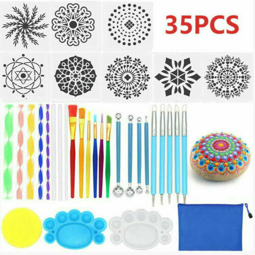 5-47pcs Multi Mandala Dotting Tools Rock Painting Kit Nail Art DIY Pen Stencil