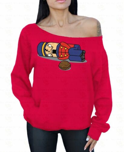 SNOWMAN SCARF Off the Shoulder Oversized Slouchy Ugly Sweater Sweatshirt hoodie