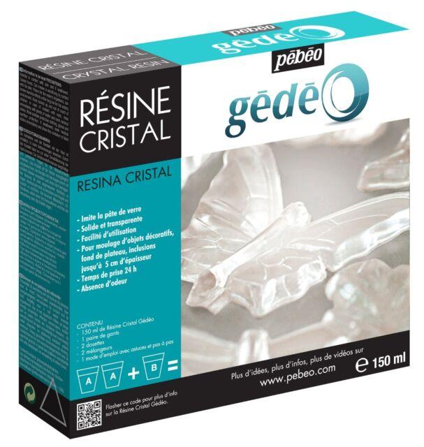 Pebeo Gedeo Crystal Transparent Resin 150ml Kit Set - Moulding, Jewellery Making