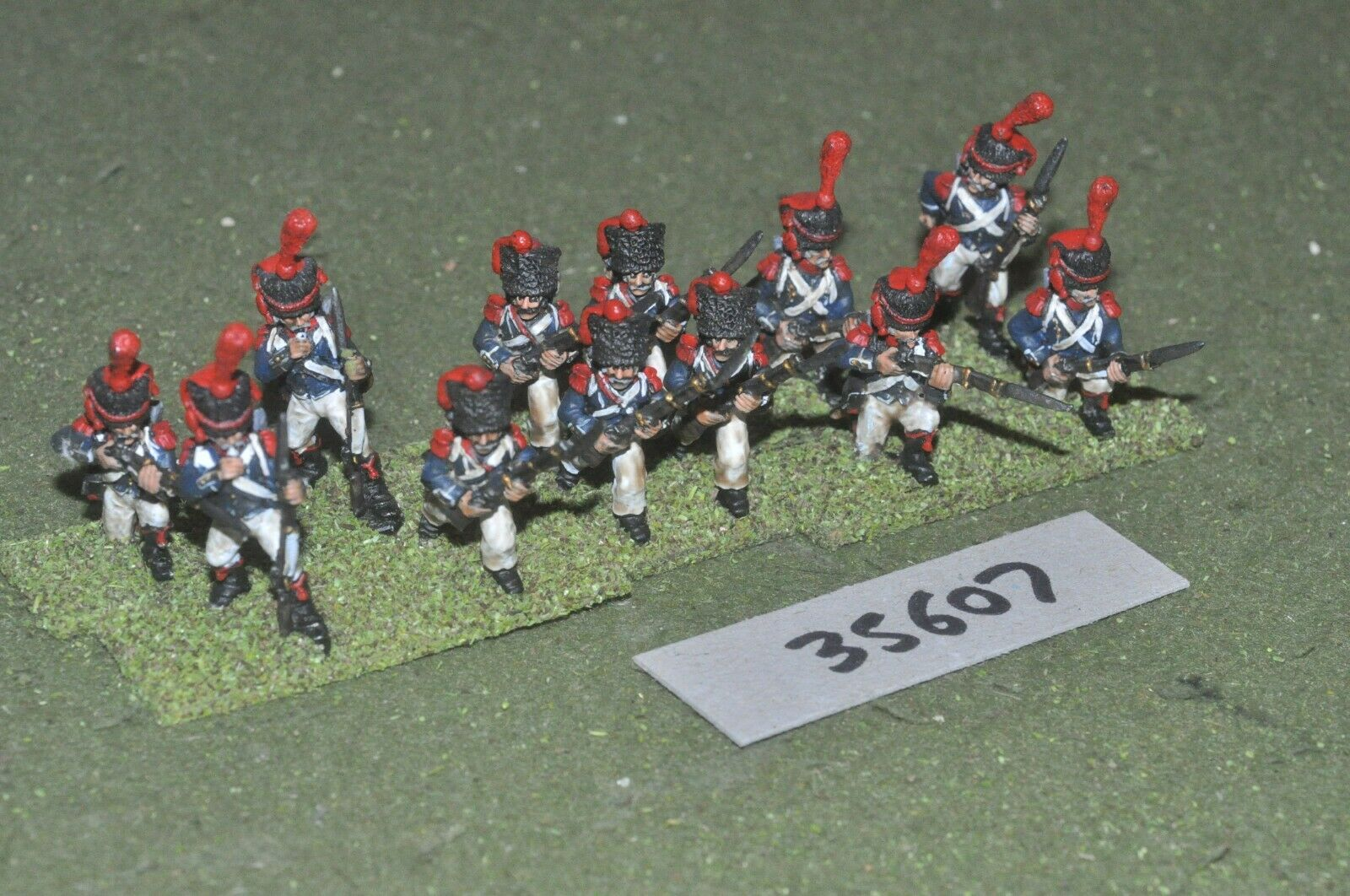 25mm napoleonic   french - guard light 12 figures - inf (35607)