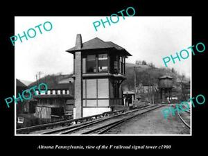 OLD-LARGE-HISTORIC-PHOTO-OF-ALTOONA-PENNSYLVANIA-THE-F-RAILROAD-TOWER-c1900