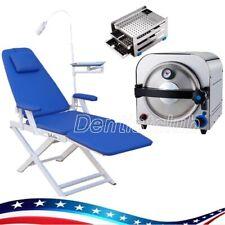 14l Dental Lab Autoclave Medical Vacuum Steam Sterilizer Dental Chair With Lamp