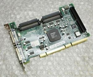 Dell-W2414-0W2414-Dual-Channel-PCI-SCSI-Manette-Carte-Adaptateur-Adaptec-39160