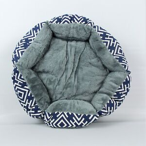 Pet-Bed-Cat-Small-Dog-Blue-18-034-Hexagon-Cuddler-Durable-Machine-Washable
