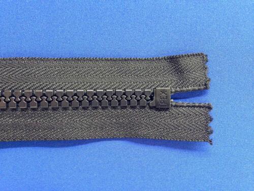 """ZIP chiusa fine 52cm 20,5 /""""non RUGGINE 10 peso dispositivo di scorrimento in metallo nero Heavy Duty"""