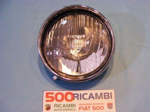 FIAT 500 D//F//L//R FARO PROIETTORE ANTERIORE FANALE COMPLETO DI CORNICE CROMATA SX