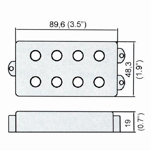 belcat humbucker pickup for 4 string electric bass guitar parts ferrite black 634458870238
