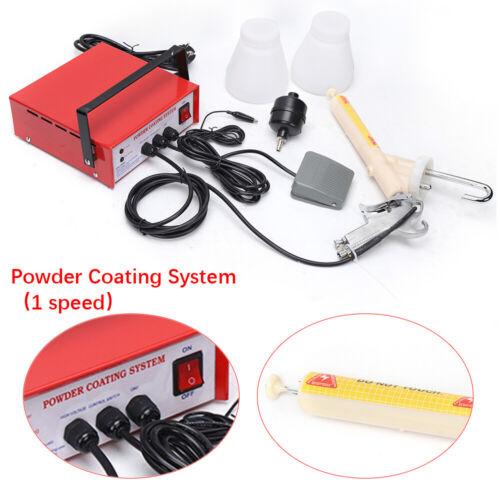 220V Elektrostatische Spritzpistole Lackierpistole Pulverbeschichtungssystem DHL