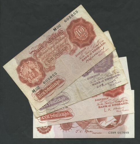 BANK OF ENGLAND  10 shillings  MULTI LISTING  1930 to 1971  Banknotes