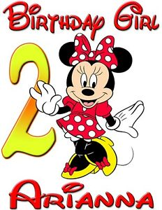 Image Is Loading Personalized Custom Minnie Mickey Mouse Birthday Shirt For