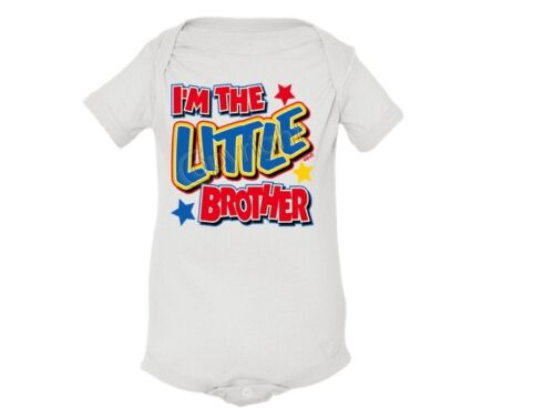 Colors I/'m The LITTLE BROTHER LAP Shoulder Creeper Newborn To 24 Months Asst
