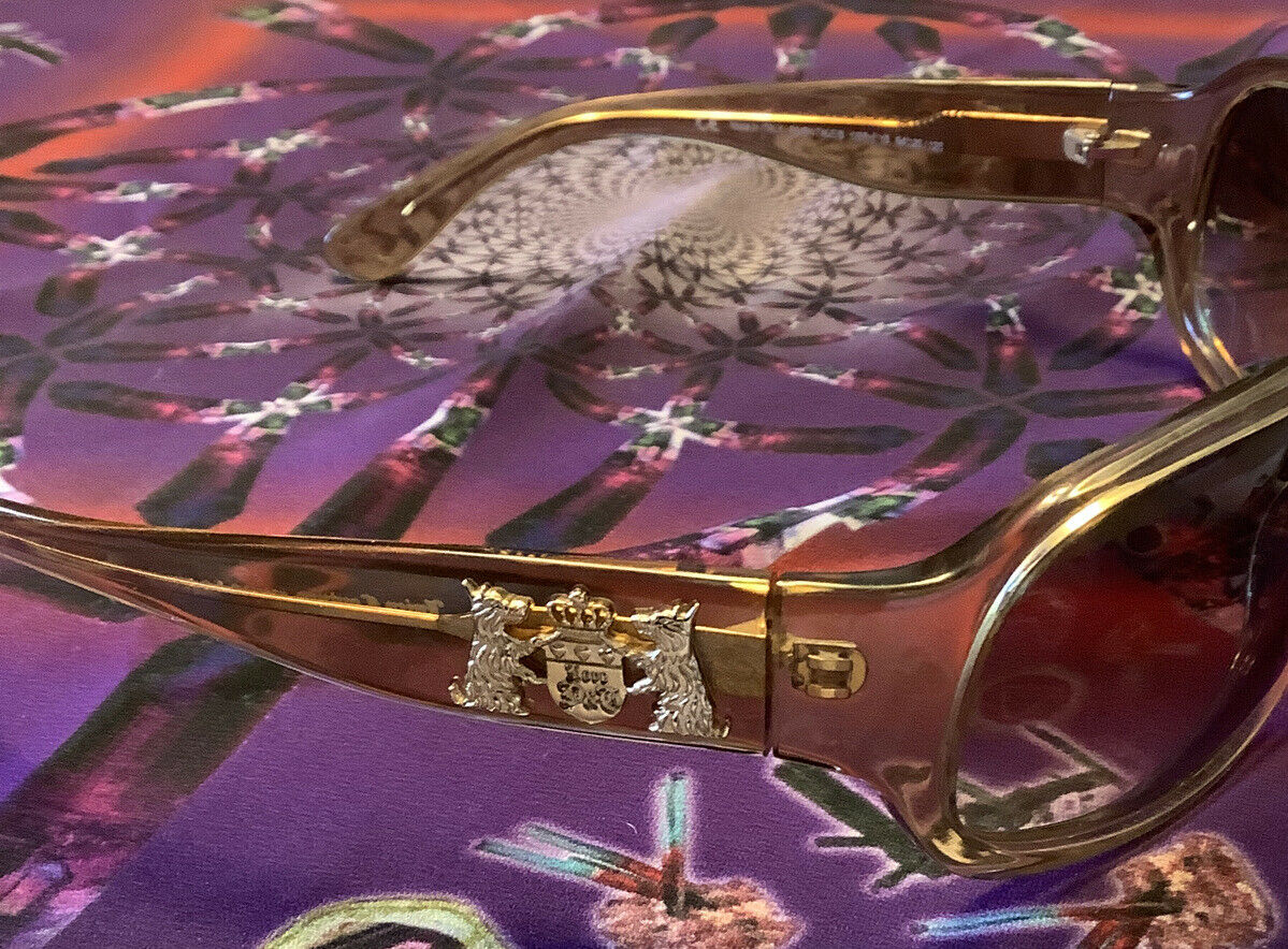 (s59) Light Tan Vintage Sunglasses JUICY COUTURE 'Fairy Tales' Made In Italy