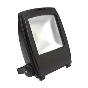 10-W-DEL-Flood-Light-Security-Outdoor-Light-IP65-COB-Chip-galvanise-Finition-Noir