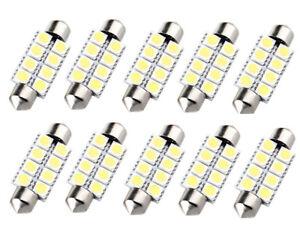 2pcs Weiß Auto Innenraum 48 SMD 5050 LED Licht Leuchten Panel 12V 6000K Soffitte