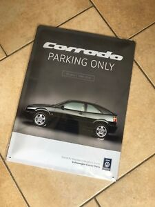 VW-Corrado-PARKING-ONLY-METAL-SIGN-PORTRAIT-Genuine