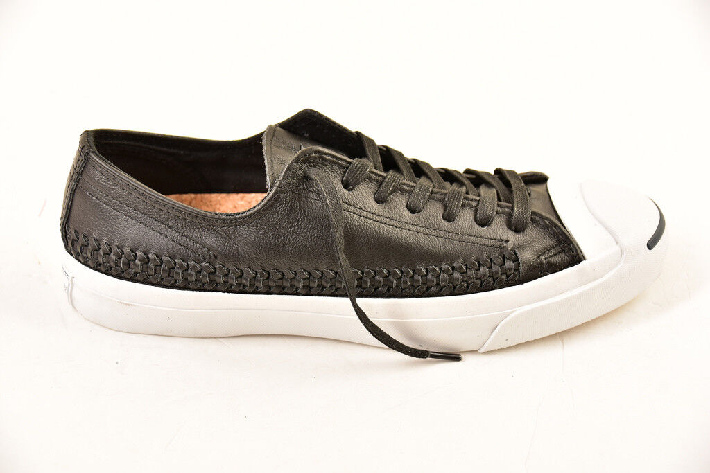 Converse Unisex Jack Purcell Woven shoes Black White Size UK 9   BCF811