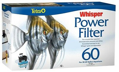 Tetra Whisper Aquarium Power Filters Whisper 60 for Aquariums Up to 60 gallons