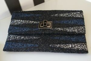 5050925730143 Neuer Valorie Hindmarch authentischer Anya Clutch Backgammon Glitter vwSF0