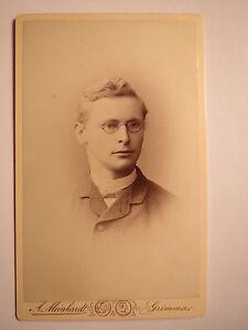 Grimma-1889-Paul-Redlich-als-junger-Mann-mit-Brille-CDV