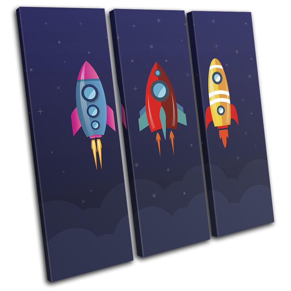 Space Cartoon Modern For Niños Room TREBLE LONA arte pa rojo  arte LONA Foto impresion 65e331
