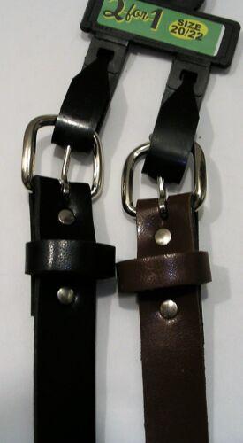 Girls Skinny Belt 2 belts 1 Navy 064 1 Brown or 1 Black 1 Black
