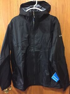 modern and elegant in fashion low price sale release info on Details about Columbia Womens Plus Waterproof Jacket Rain To Fame Hood Size  1X Black NWT