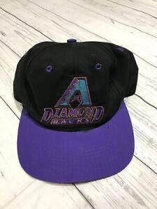 333172af7 Details about Vintage Arizona Diamondbacks Snapback Hat Adult One Size Fits  All 90s Logo 7 Vtg