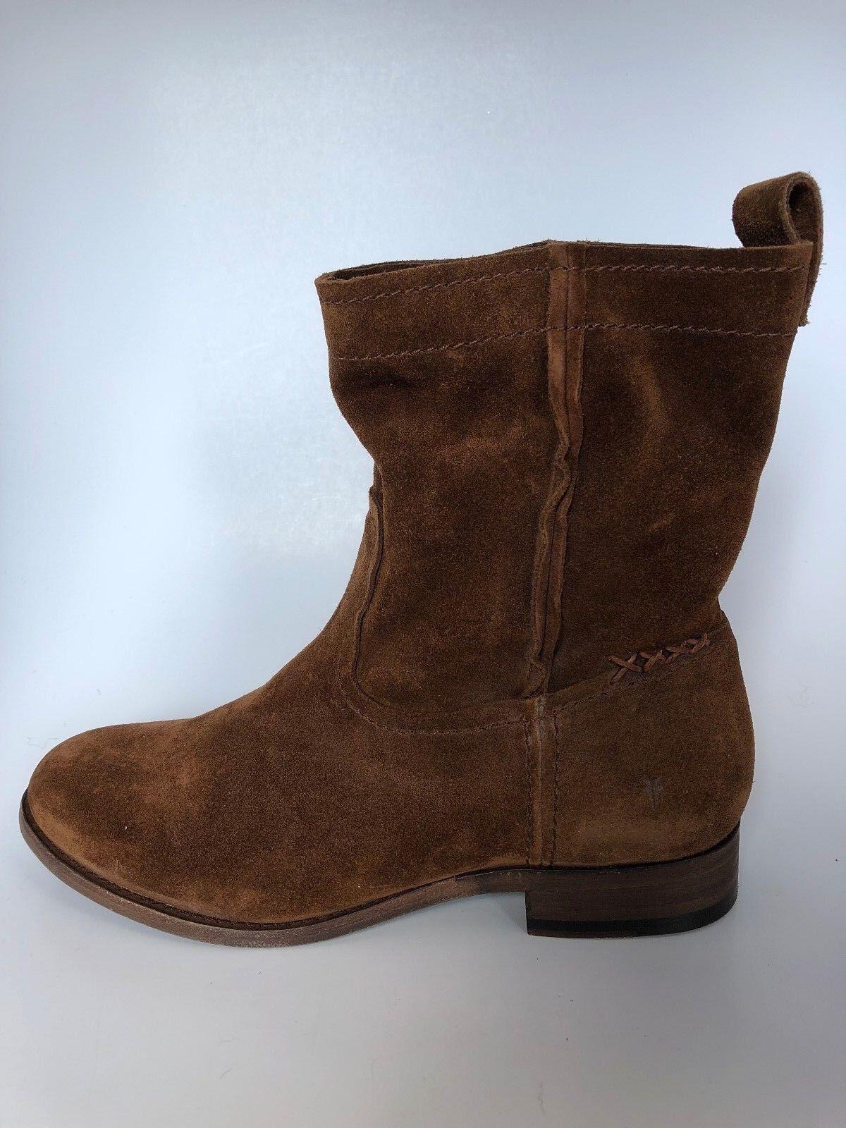 Nuevo En Caja-Frye Gamuza corto para mujer cara estilo oeste botín Madera-Elige tamaño