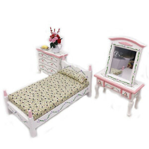 Mini-bed-with-pillows-dollhouse-bedroom-furniture-for-children-pretend-play-t-LO