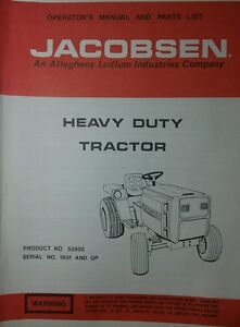 image is loading jacobsen-53500-hd-195-lawn-garden-tractor-owner-