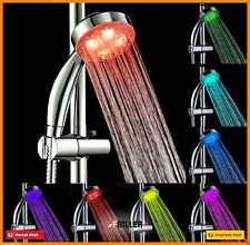 LED Hand Shower Water Head Glow 7 Colours Changing NEW Romantic Light hand-held