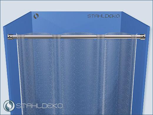 Duschset für Duschvorhang Ø 16mm  bis 180cm Edelstahl