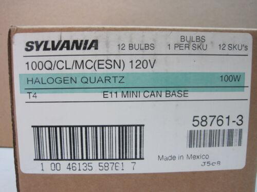 100W Watt Clear Bulb Lamp E11 Mini Candelabra Sylvania Halogen 100Q//CL//MC ESN